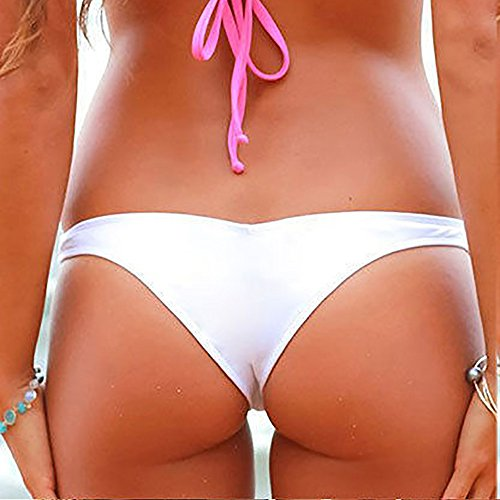 Slip V da Topgrowth Costume Bikini Bianca Donna Thong Bagno Bikini Brasiliano Costume da Perizoma Mare Bottom 8OCwOqX