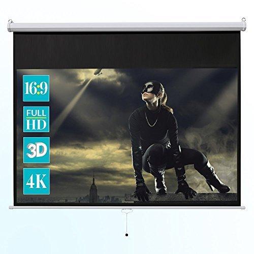 ivolum 104  Manual Projector Screen 16:9 format Manual pull down projector screen [並行輸入品] B07BJ1H85T