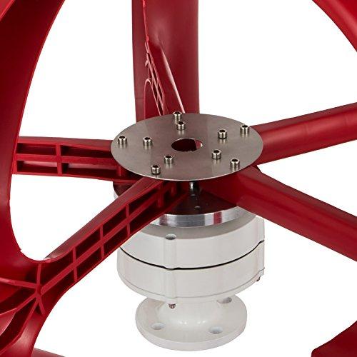 Happybuy Wind Turbine 300W 12V Wind Turbine Generator Red Lantern Vertical Wind Generator 5 Leaves Wind Turbine Kit with Controller No Pole (300W 12V, Red) by Happybuy (Image #5)