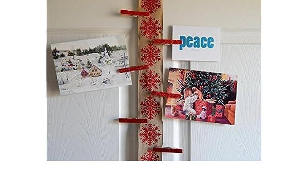 Amazon Com Christmas Card Holder And Display Christmas Card
