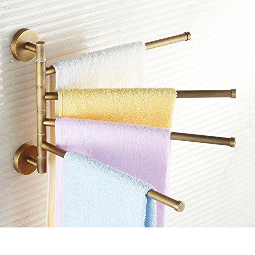 Full rotating copper towel rack/bathroom towel rail/The bathroom Towel rack/removable Towel Bar-J 70%OFF
