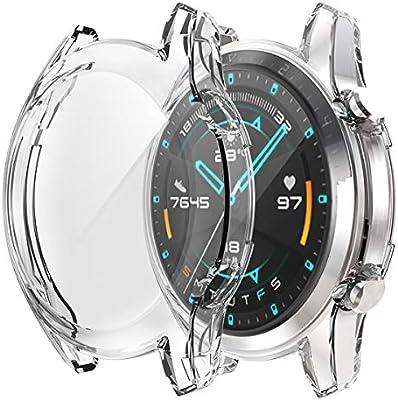 Dilhvy Funda Compatible Huawei Watch GT 2 Protector de Pantalla 46 ...