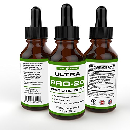 Probiotic Drops - Probiotic for Women and Men - 20 Strain Liquid Probiotic Supplement - Acidophilus Probiotic - Womens Probiotic, Prebiotics and Probiotics - Best Probiotic for Digestion, Irritable Bowel & Leaky Gut