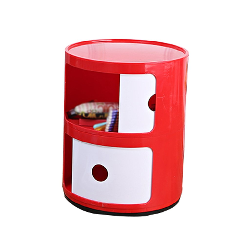 W Nightstands Plastic Lockers Bedroom Nightstand Round The Corner Cabinet Multifunctional Storage ( color   A )