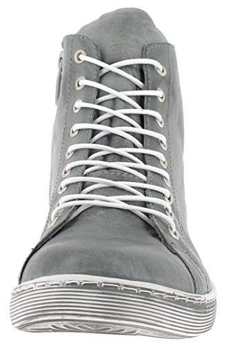 Para Zapatos De Conti 0341500 Antracita Cuero Andrea Mujer x1OXgw