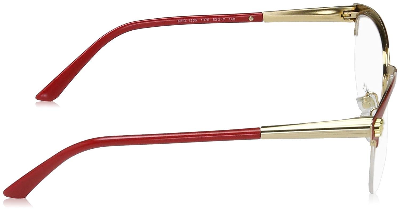 9cbc16526176c Versace VE1235 Eyeglass Frames 1376-53 - Red   Gold VE1235-1376-53   Amazon.ca  Jewelry