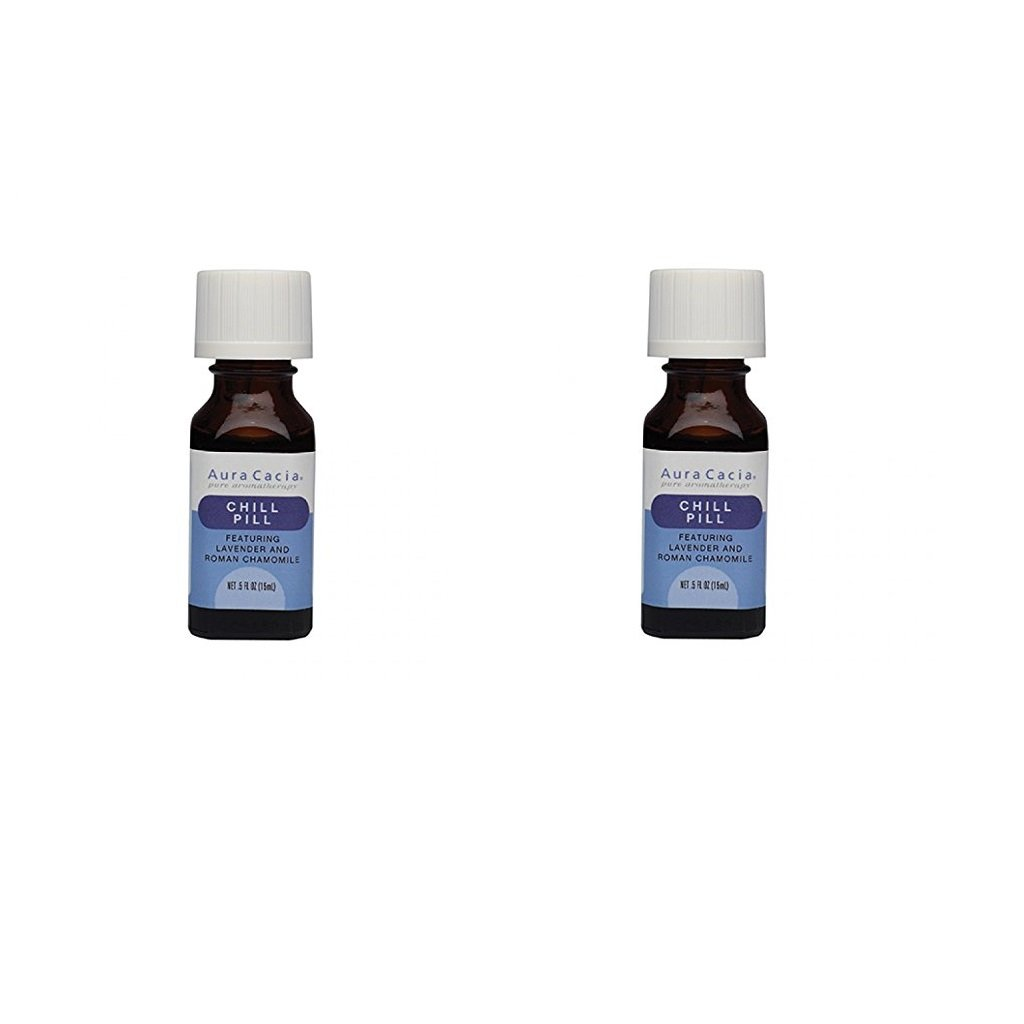 Aura Cacia Essential Oils - Chill Pill - Net Wt .5 FL oz.(15 ml) (Pack of 2)