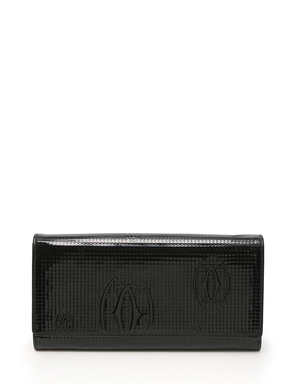 (カルティエ) Cartier ハッピーバースデー 二つ折り長財布 エナメルレザー 黒 中古 B07CZVLSVV