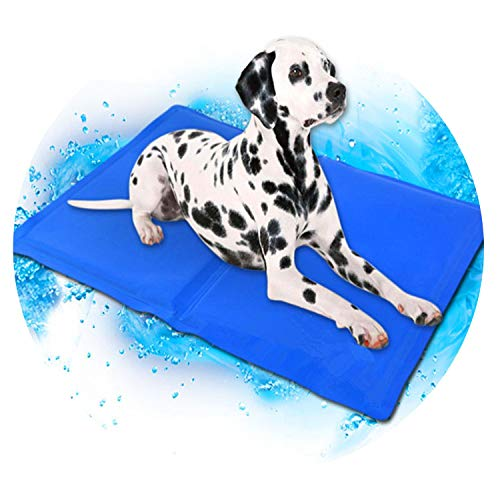 ZZmeet Dog Cooling Mat Pet Ice Pad Teddy Mattress Pet Cool Mat Bed Cat Cushion Summer Keep Cool Pet Gel Cooling Dog Mat for Dogs XL XXL,Water Droplets,50x90cm
