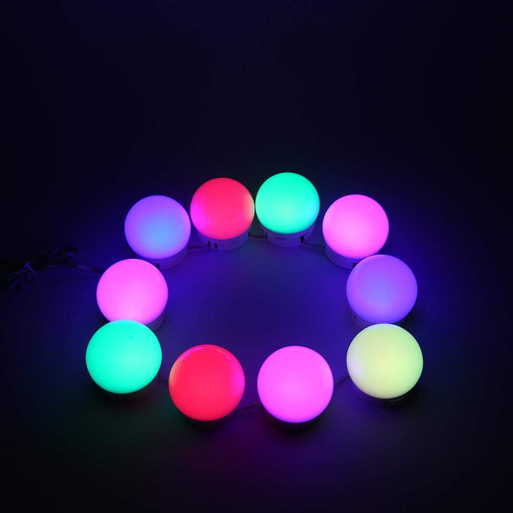 LED Lights For Multicolor Mirror Vanity Mirror Lights Kit 10 LED Bulbs Decoration Hollywood Makeup Mirror Dimmable USB Cable Vanity Light Dresser Table Bathroom