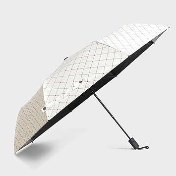 Paraguas De Plástico Negro Niña Sombra Sun Rain Retro Estudiante Paraguas Plegable