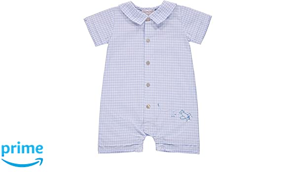 Amazon.com: Carriage Boutique Boys Plaid Airplane Embroidered Shortall (Baby): Clothing