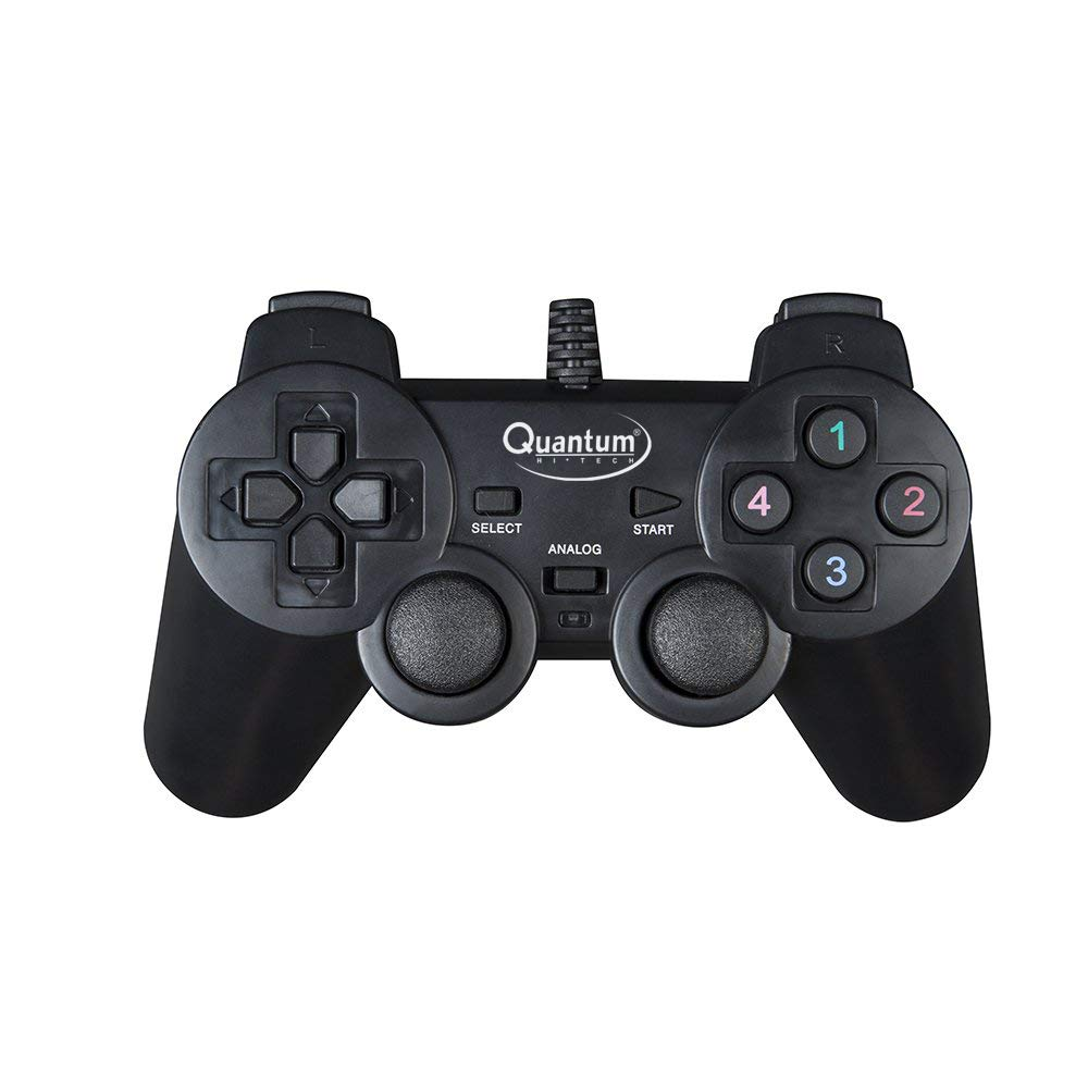 Quantum QHM7468 USB Gamepad with Dual Vibration (Black)