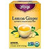 Yogi Tea Lemon Ginger Tea Bags 16 ea ( pack of 8)