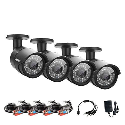 Annke 4-Packed 1280TVL / 720P Hi-Resolution AHD Security Cam
