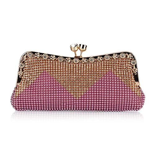 Bags Wedding Wedding Sequined Party Bag For Handbag Evening Women Pink Prom Fasion Party Purse Sparkly Clutch qga5zA