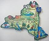magnet fridge new york - New York the Empire State Artwood Jumbo Fridge Magnet