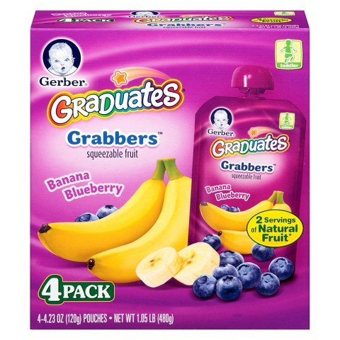 Gerber Graduates Grabbers - Banana Blueberry 1.05lb Box