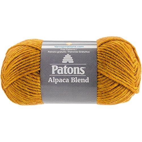 Patons  Alpaca Blend Yarn - (5) Bulky Gauge  - 3.5oz -  Butternut -  Machine Washable  For Crochet, Knitting & Crafting