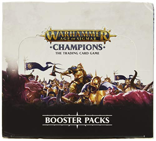 PlayFusion PLFW82501 Booster Display Warhammer Age of Sigmar Champions Collectible Card Game (Best Elder Scrolls Legends Deck)