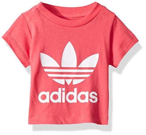 - adidas Originals Baby Girls Originals Trefoil Tee, Real Pink/White/Infant, 12M