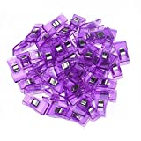 New Set of 50 Pcs Wonder Clips, Vibrant Colors, All Purpose Craft Quilt DIY Clips, Perfect as Sewing Clips, Quilting Clips, Fabric Clamps Clips (Purple)