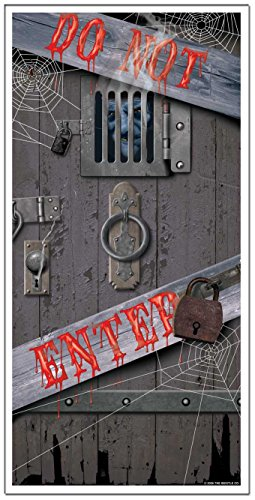 Haunted Halloween Door Cover -