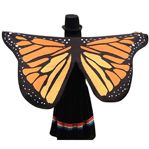 Men Butterfly Costume For (57inch x 25inch Butterfly Wings, Kemilove Soft Butterfly Wings Adult Costume Accessory)