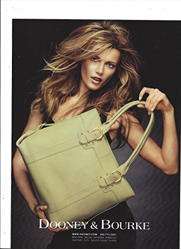 print-ad-with-veronica-varekova-for-2005-dooney-bourke-green-leather-tote-bags-print-ad