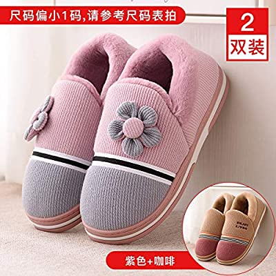 WXMTXLM Pareja de zapatillas de algodón bolso de las mujeres ...