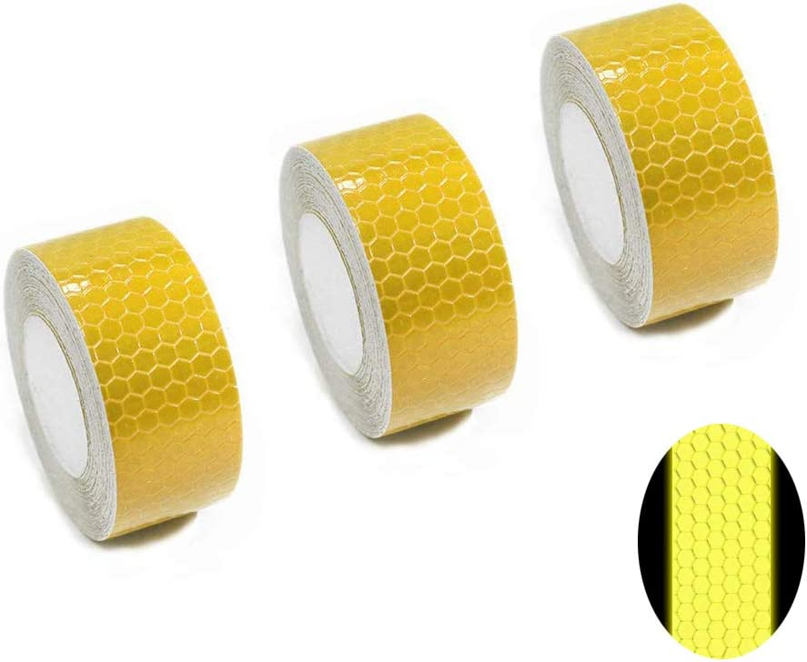 Tuqiang/® Reflective Tape Self-Adhesive Tape for Buggy and Strollers Motorcycle Helmet High Visibilty Reflective Safety Tape 3M/×2.5CM White 2pcs