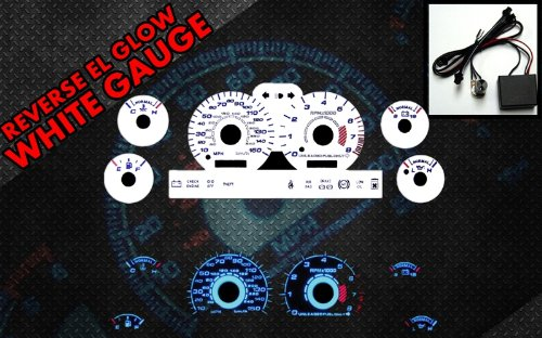 Brand New White Face Blue Indigo Reverse Glow Gauges For 94-98 Ford Mustang GT (I-113)