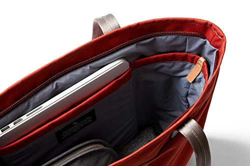 Bellroy Tokyo Tote, Water-Resistant Woven Tote Bag (13'' Laptop, Tablet, Notes, Cables, Drink Bottle, Spare Clothes, Everyday Essentials) Red Ochre by Bellroy (Image #5)