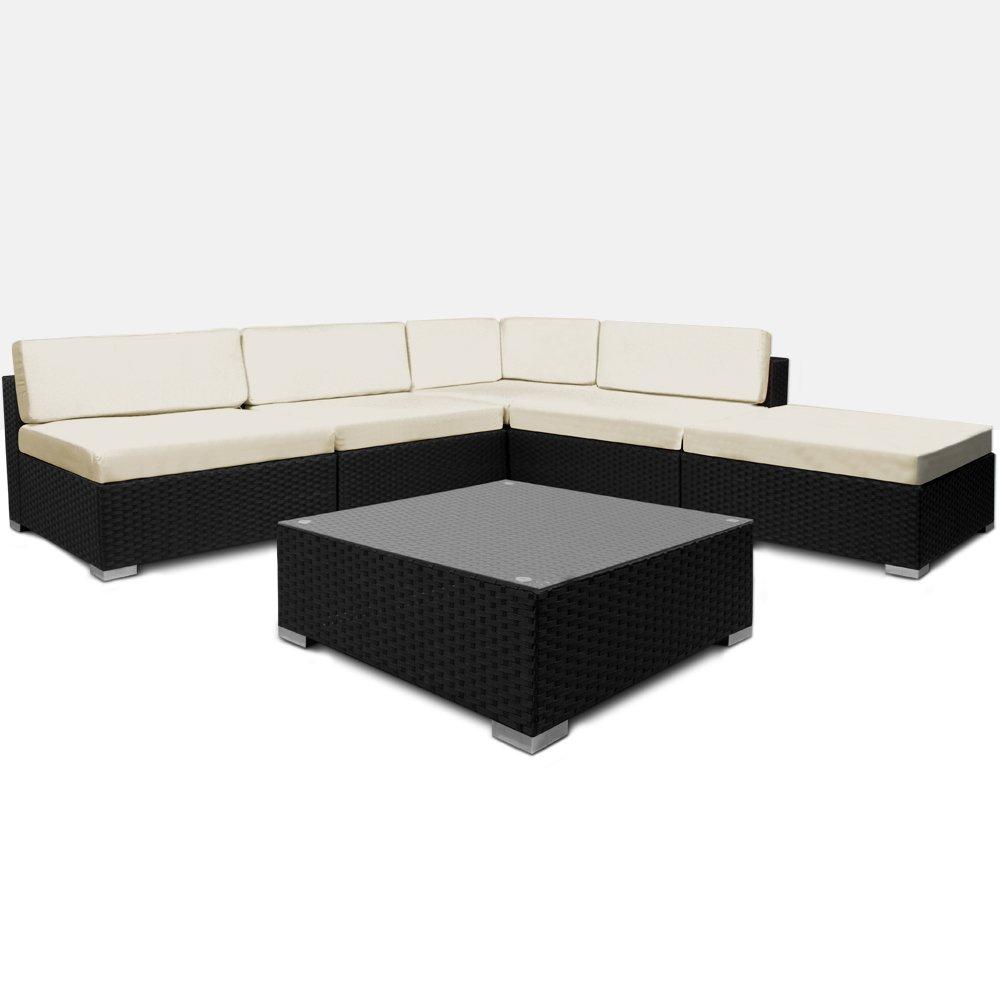 16tlg PolyRattan Lounge Set XXL Sitzkissen Sitzgarnitur Sitzgruppe ...
