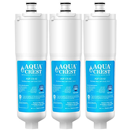 AQUACREST CS-52 Refrigerator Water Filter, Compatible with 3M Cuno CS-52, CS-51, CS-452, CS-522, CS-532, CS-562, CS450, CS-512, W1085590, 56932, 2168701, 51000, 52000 (Pack of 3)