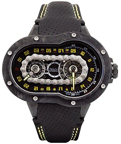 Block Ss Watch (Azimuth CRAZY RIDER auto watch Motorcycle engine design Engine block CARBON case)