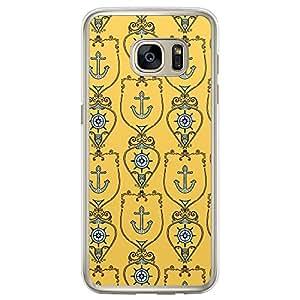 Loud Universe Samsung Galaxy S7 Edge Nautical Nautical 12 Printed Transparent Edge Case - Yellow