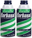 Barbasol Shave Cream, Soothing Aloe - 10 oz - 2 pk
