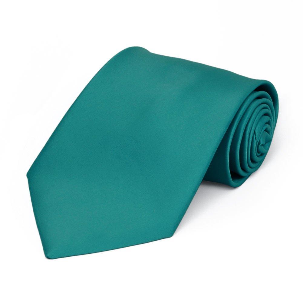 TieMart Boys Oasis Premium Solid Color Tie