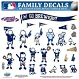 MLB Milwaukee Brewers Large Family Decal Set