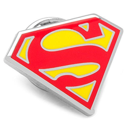 DC Comics Enamel Superman Shield Lapel Pin, Officially (Authentic Superman Suit)