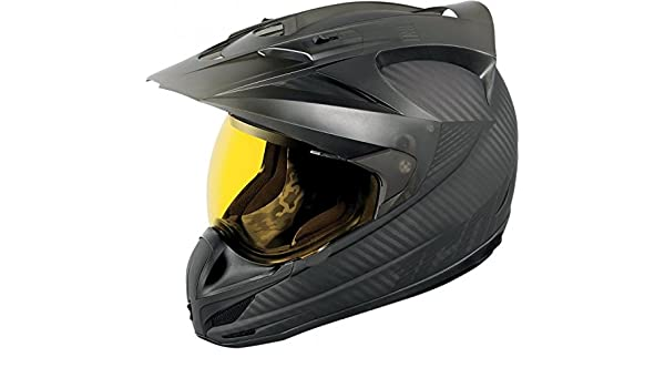 Amazon.es: Icon Variant Ghost Carbon Casco Negro carbono moto Enduro Quad Offroad