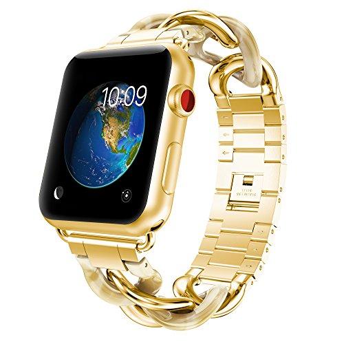 GELISHI Apple Watch Band 38mm Women,Luxury Metal