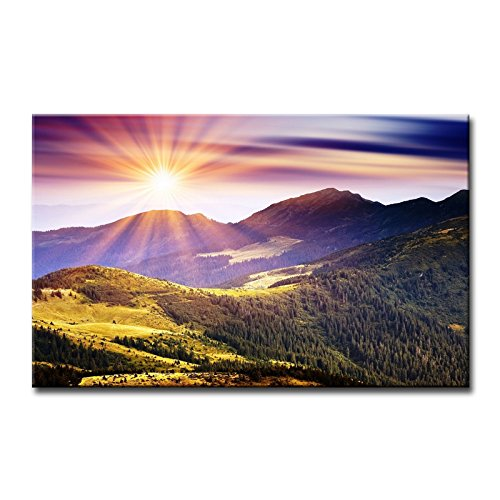So Crazy Art-Wall Art Painting Sunshine In Mountains Pictures Prints On Canvas Landscape The Picture Decor Oil Home Modern Decoration ()