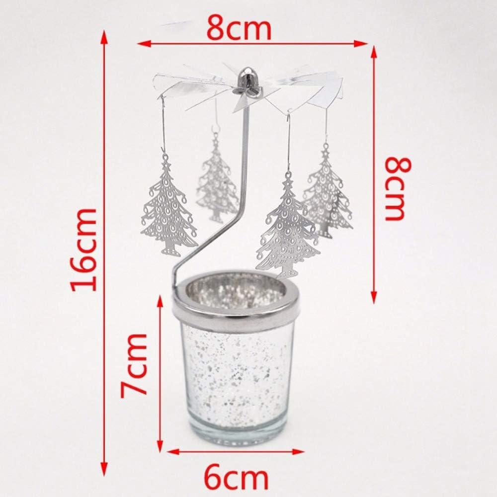 carrusel para boda Noblik regalo hogar Candelabro giratorio para velas de t/é portavelas de t/é fiesta metal