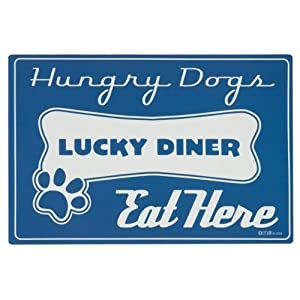 Lucky Diner Dog Placemat by ORE, blue, 18.2Lx12.2W 59