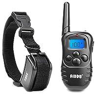 Fiddo eléctrico Collar de perro 330 yardas Remoto de entrenamiento del perro E-collar con pitido /vibración /descarga eléctrica