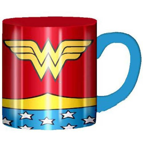 Wonder Woman Uniform Costume Ceramic Coffee Mug 14 oz, Laser Print