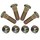 """Pack of 4 3/8"""" UNF Wheel Studs And Nuts For 4"""" PCD Trailer Suspension Hubs"""