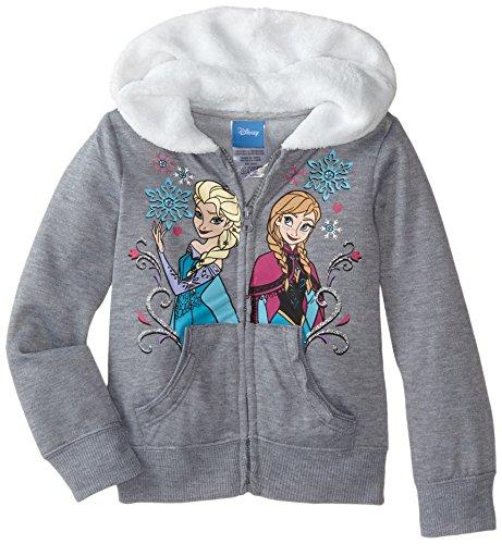 Disney Little Girls' Frozen Hoodie, Grey, 5